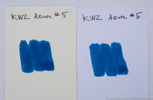 KWZ Azure #5 ink swabs