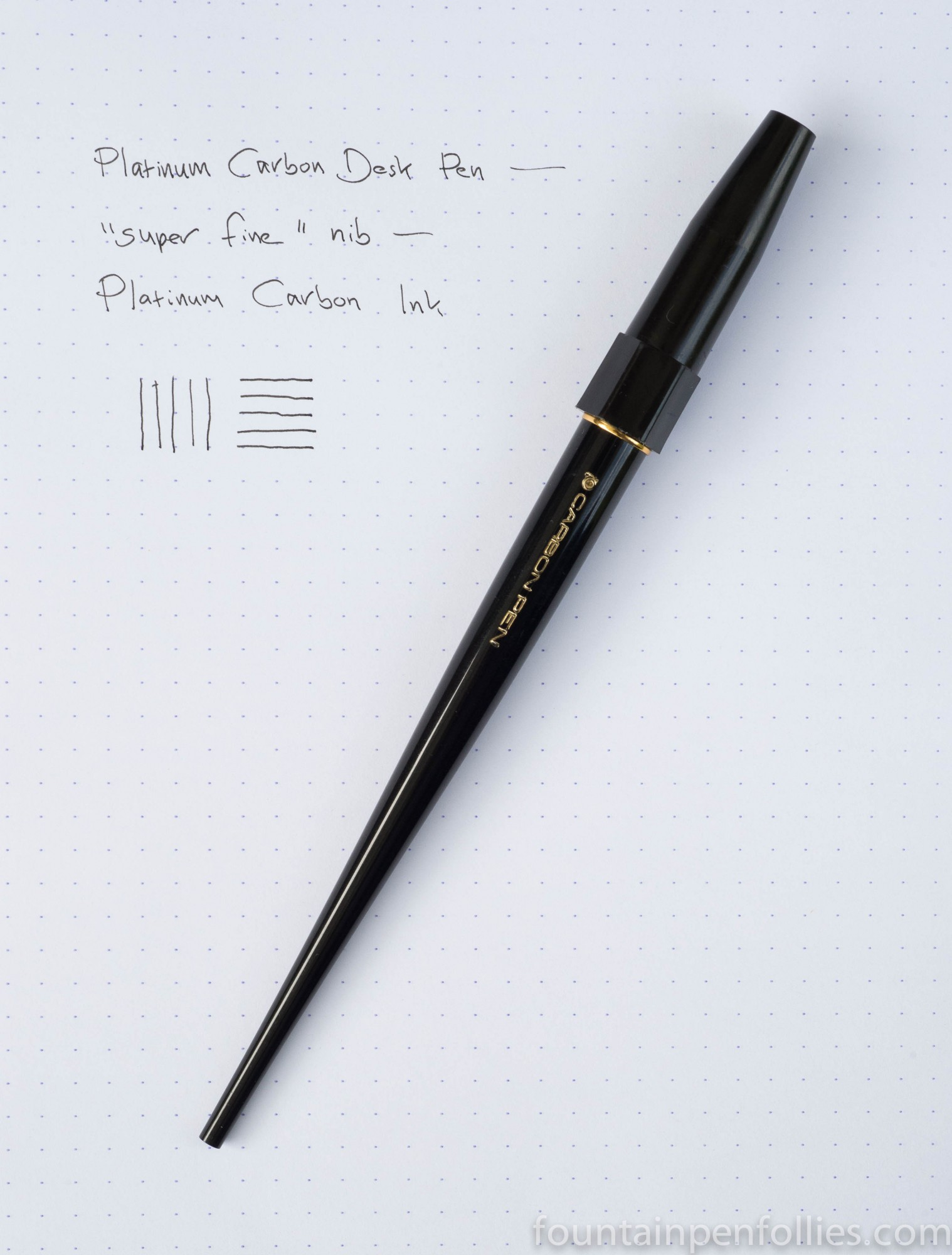 Pen of the Day: Platinum Carbon Desk Pen – Fountain Pen ...