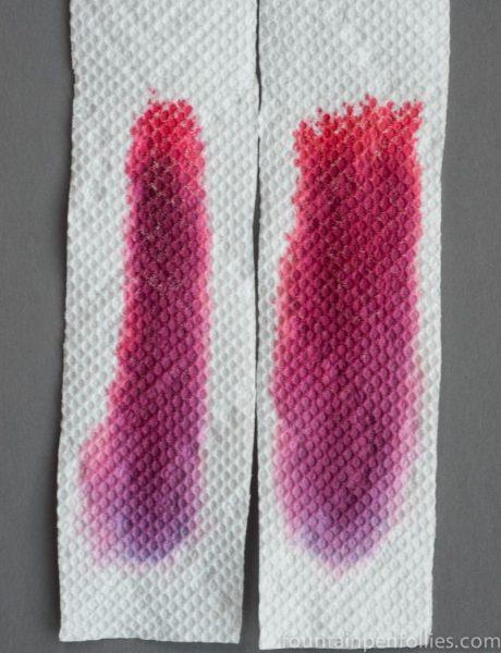 KWZ Maroon and Maroon #2 ink chromatography