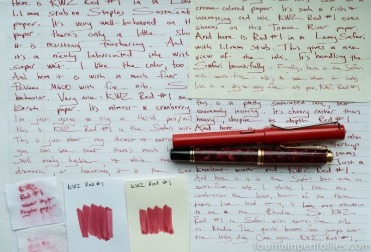 KWZ Red #1 writing samples