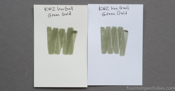 KWZ Iron Gall Green Gold ink swabs