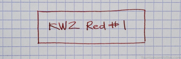 KWZ Red #1 ink writing sample
