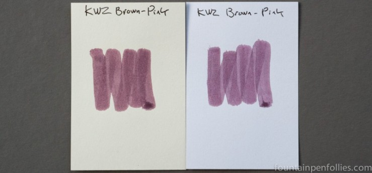 KWZ Brown-Pink ink