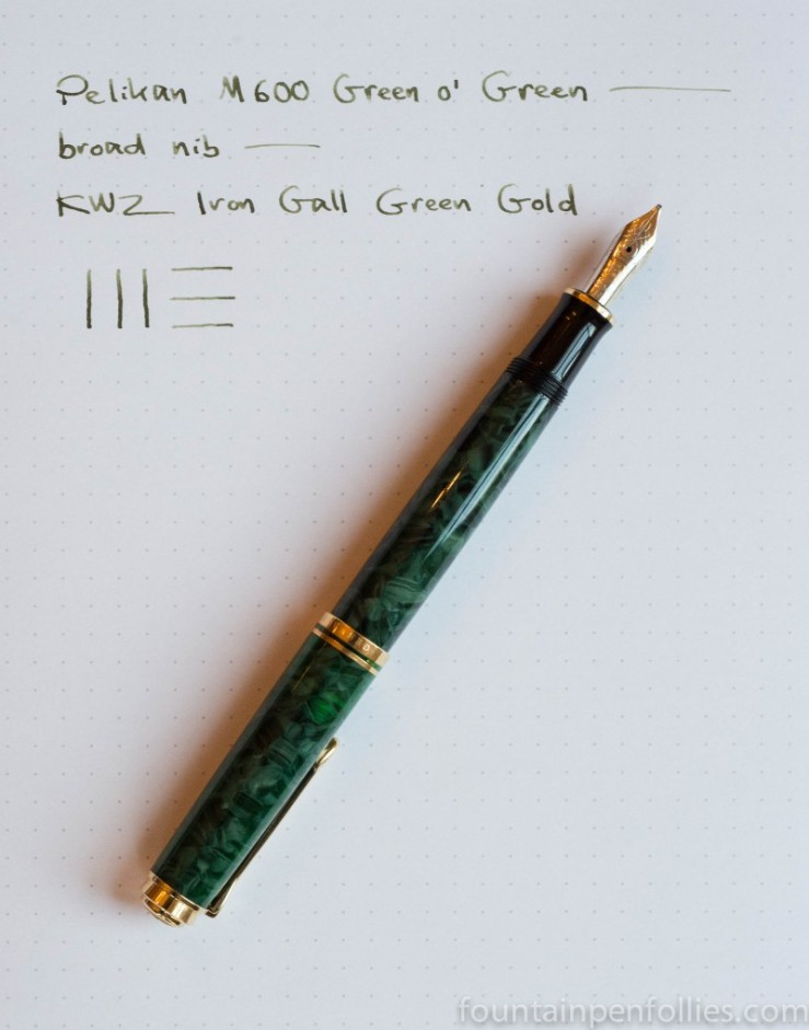 Pelikan M600 Green o' Green fountain pen