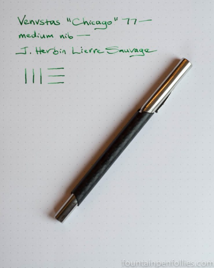 "Venvstas 77 ""Chicago"" fountain pen and J. Herbin Lierre Sauvage"