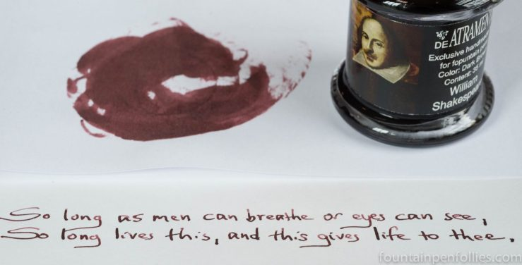 De Atramentis William Shakespeare ink