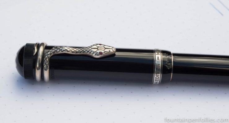 Montblanc Agath Christie fountain pen cap and clip
