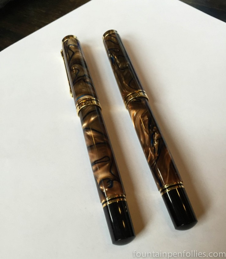 pair of Pelikan M800 Grand Place fountain pens