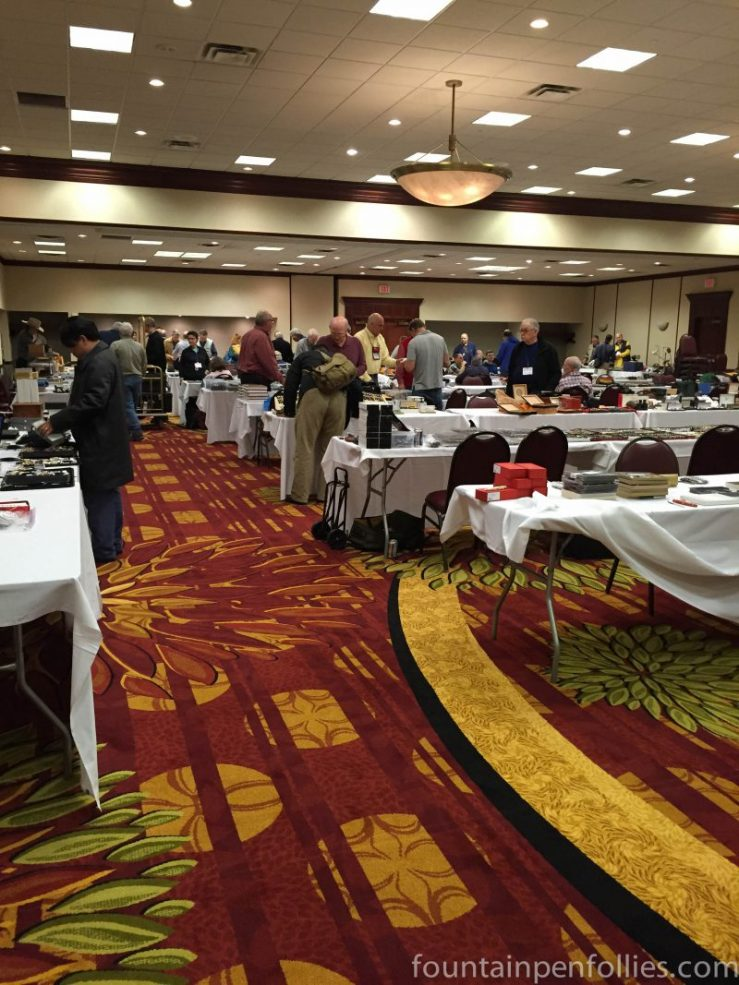 Chicago Pen Show ballroom on trader day