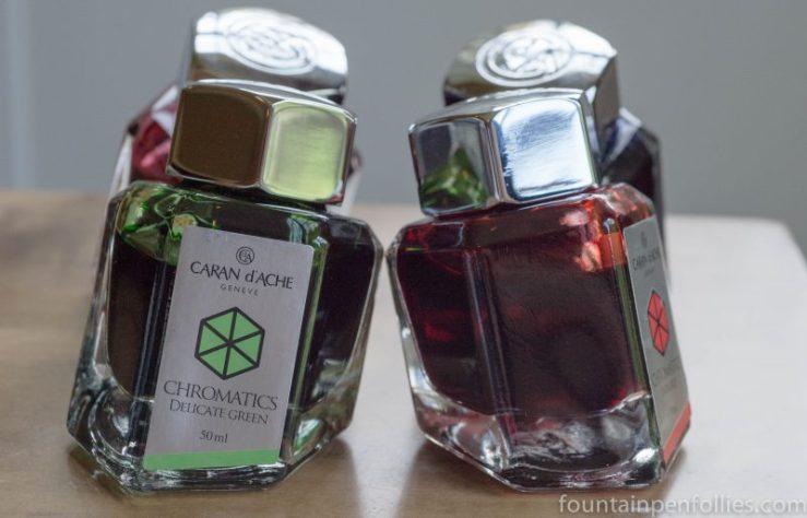 Caran d'Ache Chromatics ink bottles