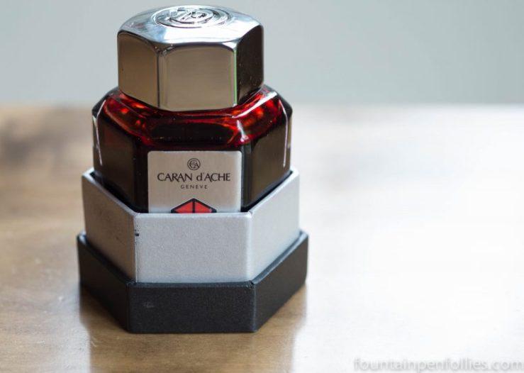 Caran d'Ache Infra Red ink bottle