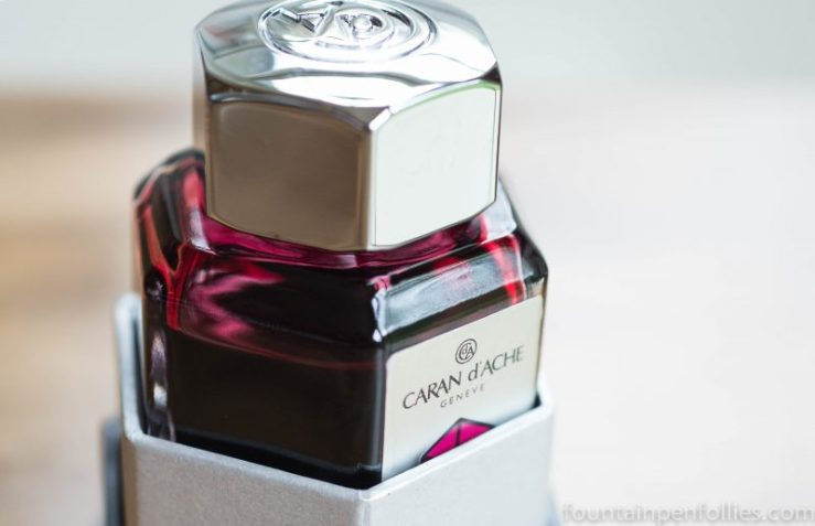 Caran d'Ache Divine Pink ink bottle