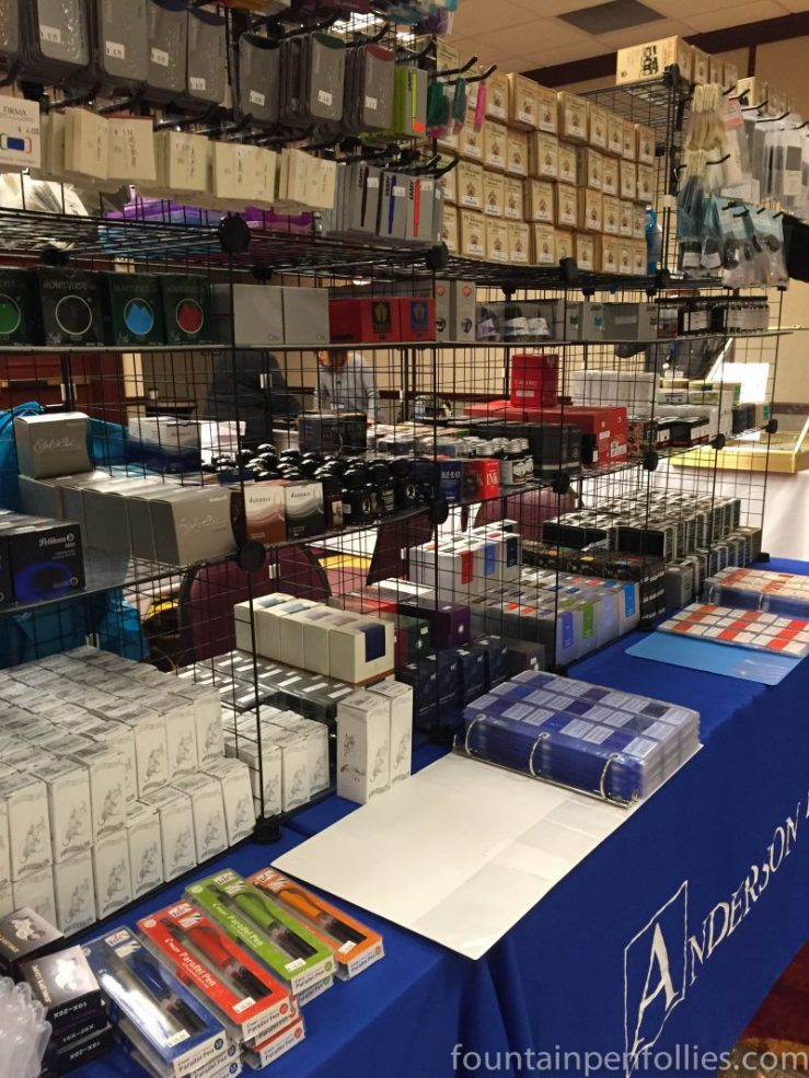 2016 Chicago Pen Show ink display Anderson pens