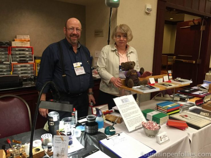 2016 Chicago Pen Show Ron and Robyn Zorn of Main Street Pens