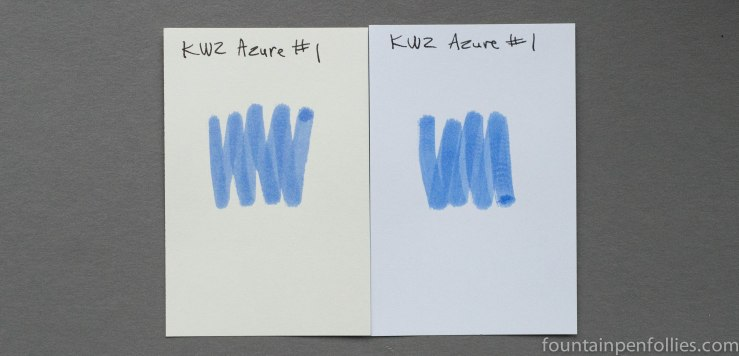 KWZ Azure #1 ink swabs