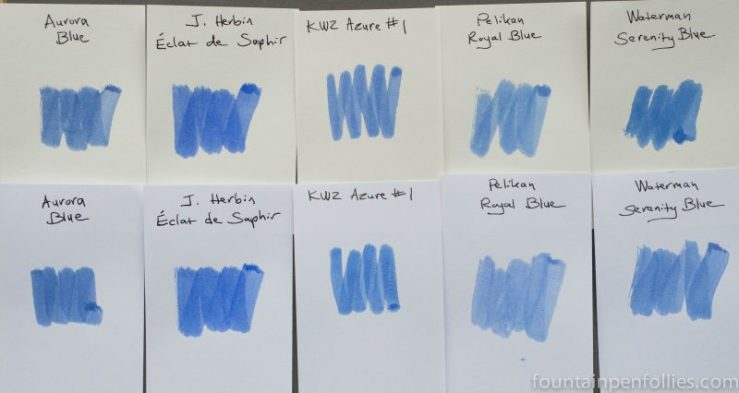KWZ Azure #1 ink swab comparisons