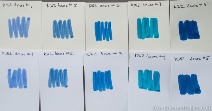 KWZ Azure #1 Azure #2 Azure #3 Azure #4 Azure #5 ink swabs
