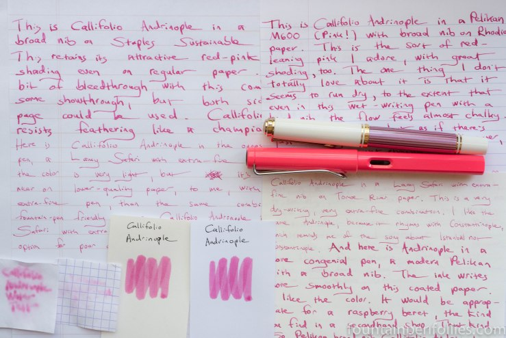 Ink Review: Callifolio Andrinople – Fountain Pen Follies