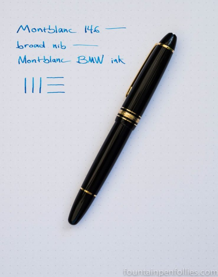 Montblanc 146 with Montblanc BMW ink