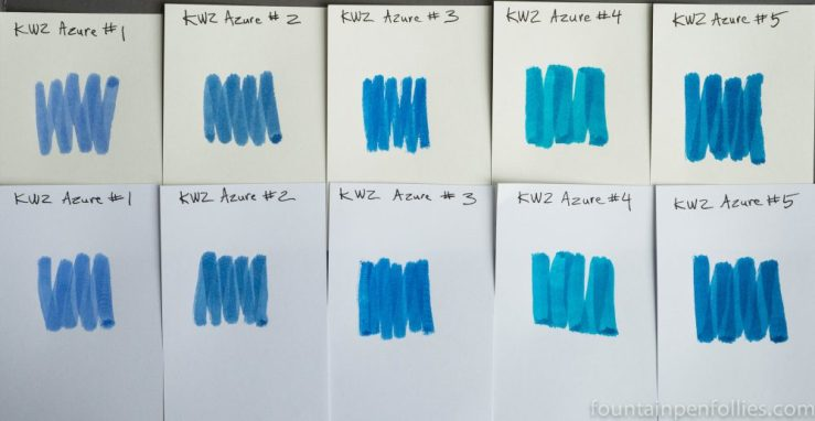 KWZ Azure #1, #2, #3, #4 and #5 ink swabs