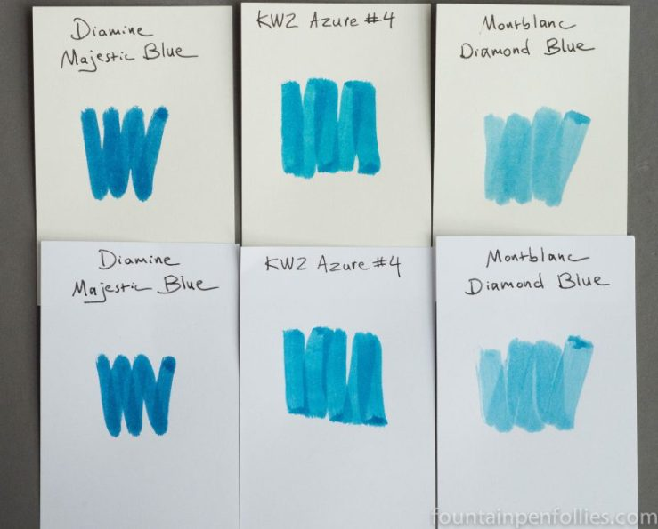 KWZ Azure #4 ink swab comparison