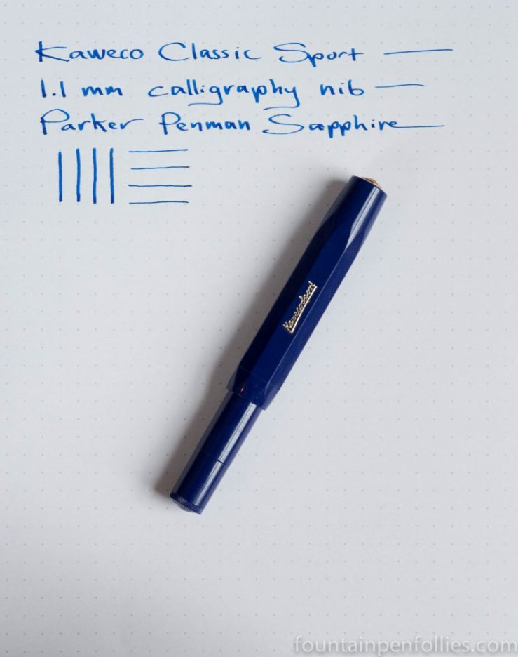 Parker Penman Sapphire ink Kaweco Classic Sport blue