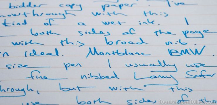 Montblanc BMW ink writing sample