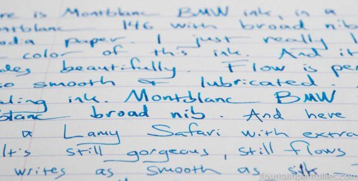 Montblanc BMW ink writing sample