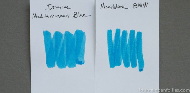 Montblanc BMW ink comparison swabs