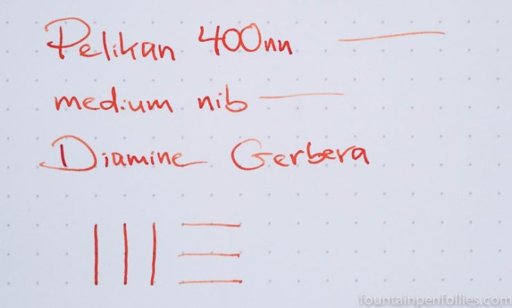 Diamine Gerbera writing sample