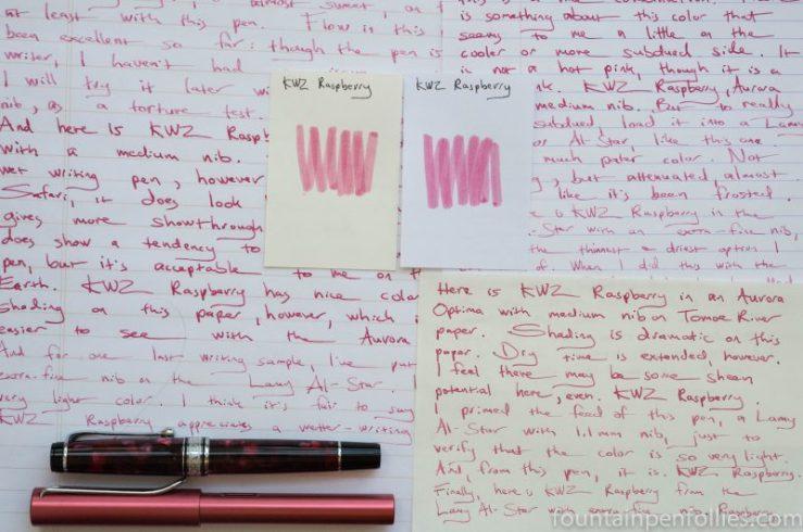 KWZ Raspberry writing samples