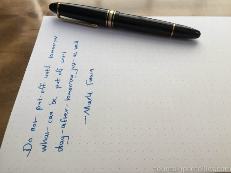 Montblanc BMW writing sample