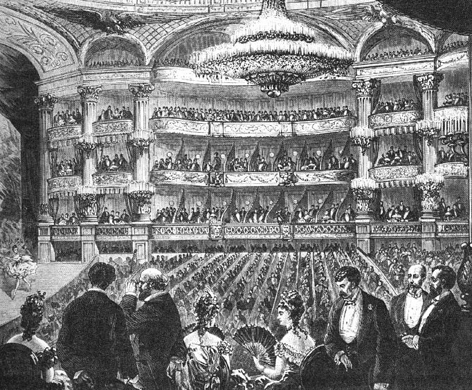 Paris Opera, circa 1860