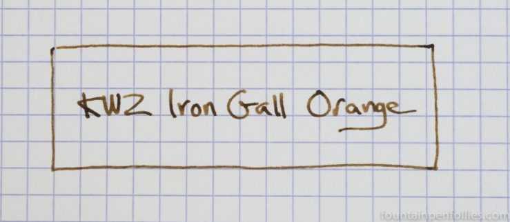 KWZ Iron Gall Orange writing sample