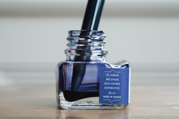 J. Herbin ink bottle nearly empty