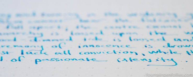 Pelikan Edelstein Topaz writing sample