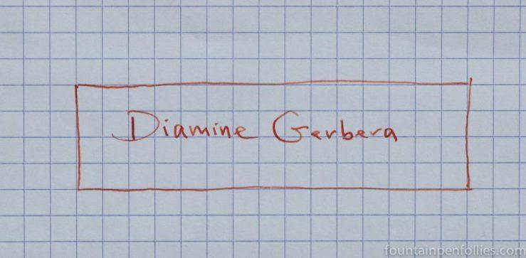 Diamine Gerbera writing sample
