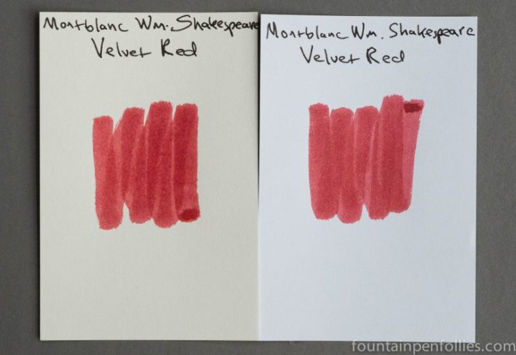 Montblanc William Shakesepare Velvet Red ink swab