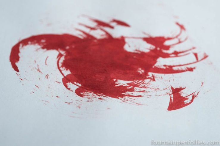red ink mess