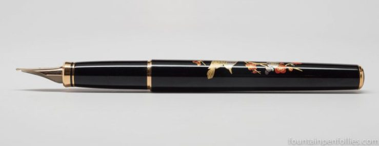 Platinum Classic Maki-e Bush Warbler fountain pen