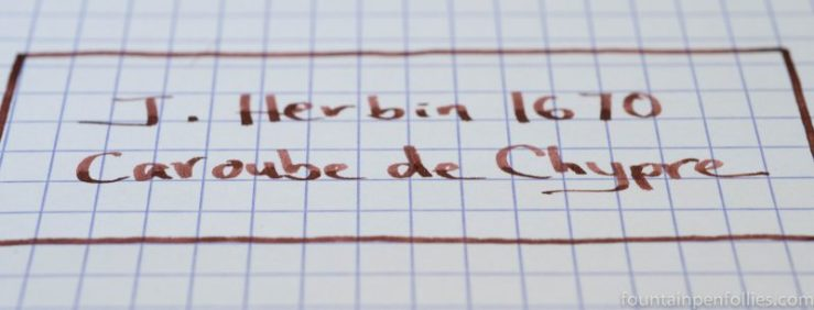 J. Herbin 1670 Caroube de Chypre writing sample