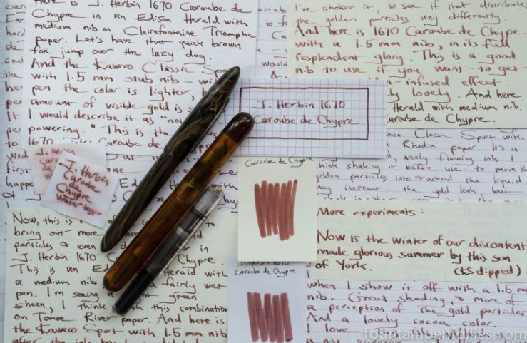 J. Herbin 1670 Caroube de Chypre writing samples