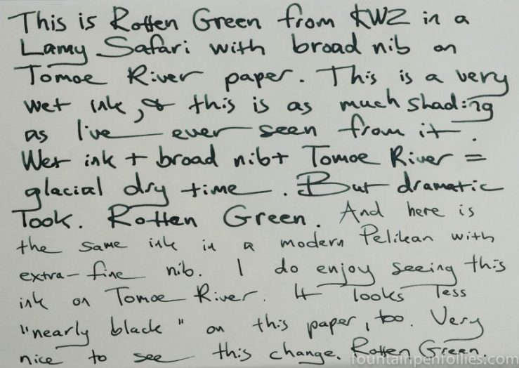 KWZ Rotten Green Writing Sample