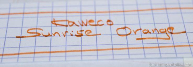 Kaweco Sunrise Orange writing sample