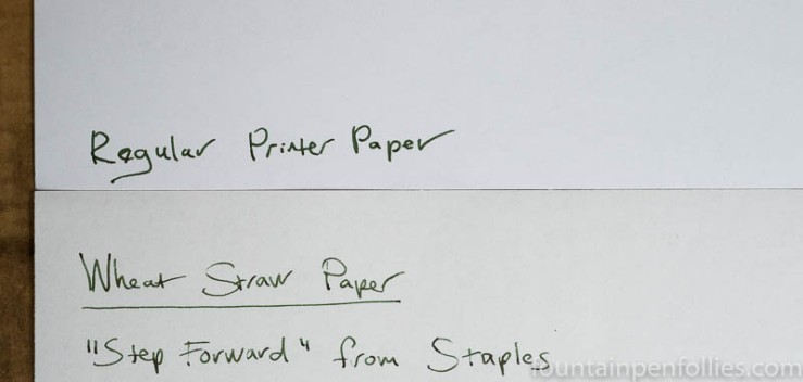 Step Forward Wheat Straw paper versus regular copy paper