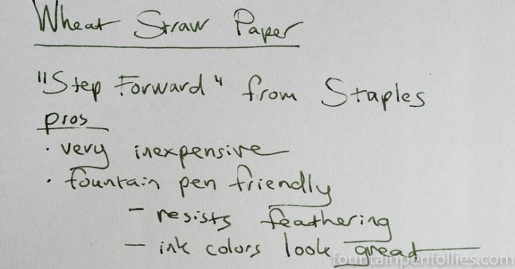 Step Forward Wheat Straw paper closeup