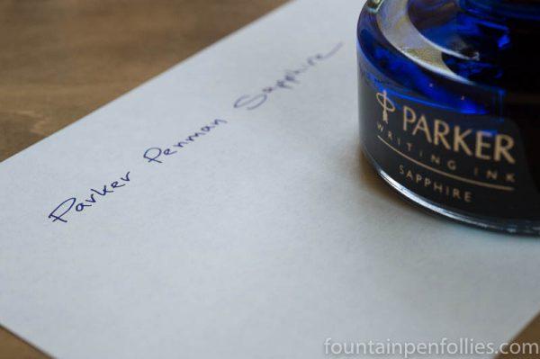 Parker Penman Sapphire ink