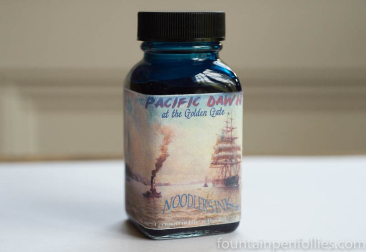 Noodler's Pacific Dawn at the Golden Gate