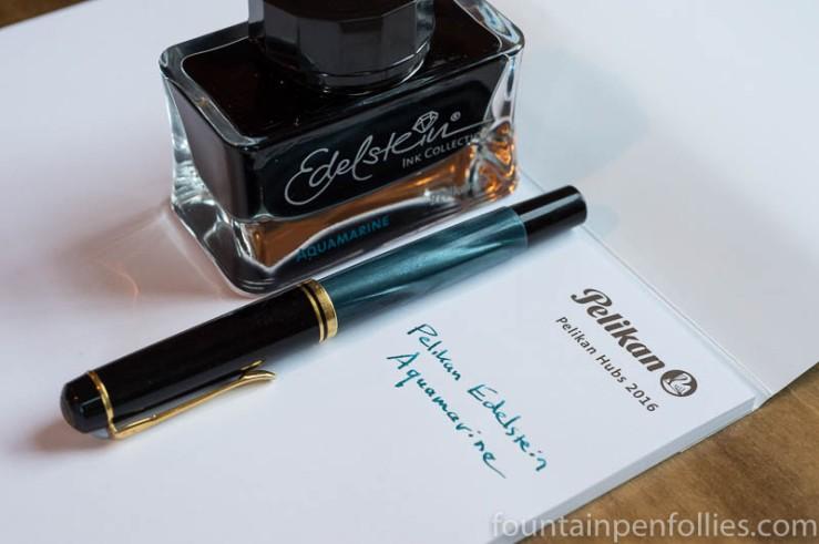 Pelikan Edelstein Aquamarine writing sample