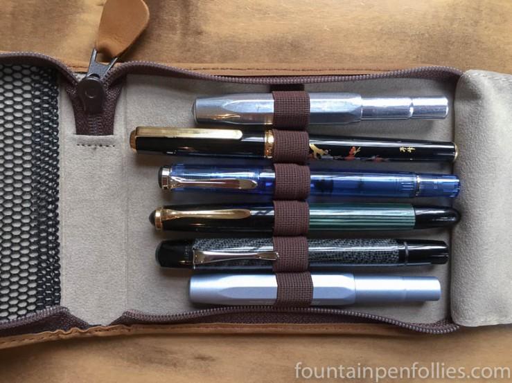 pens in Kaweco Traveller pen case